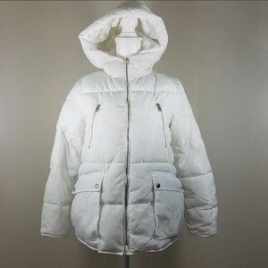 Zara Girls Puffer Hoodie Jacket Size 11/12